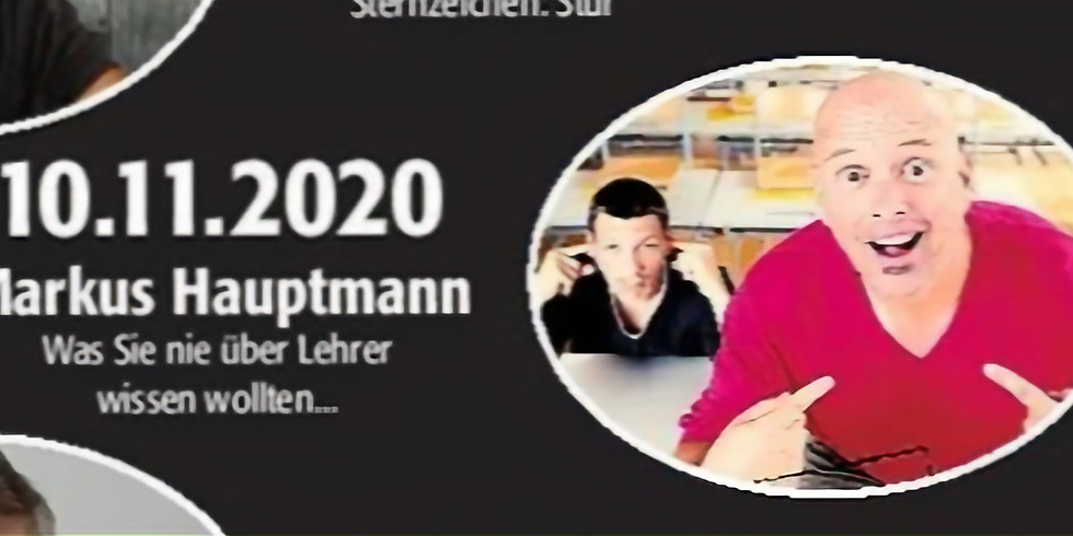 """Markus Hauptmann, """"Was Sie nie über Lehrer wissen wollten"""""""