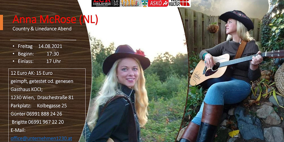 Anna McRose (NL) Country & Linedance Abend