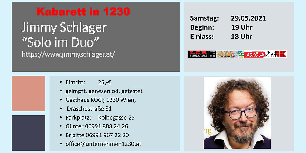 """Jimmy Schlager """"Solo im Duo"""""""