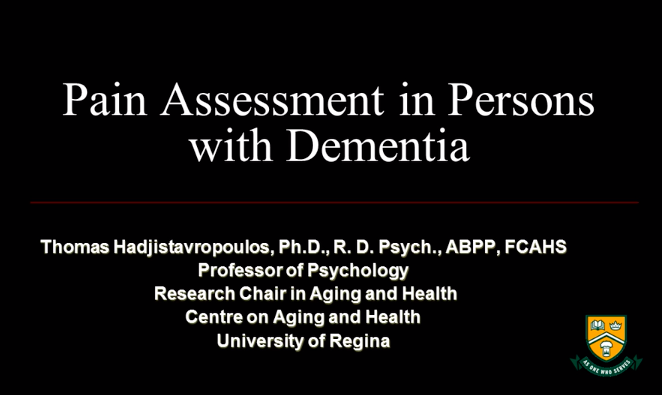 Pain in Dementia Webinar