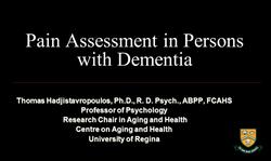 Pain in Dementia Webinar
