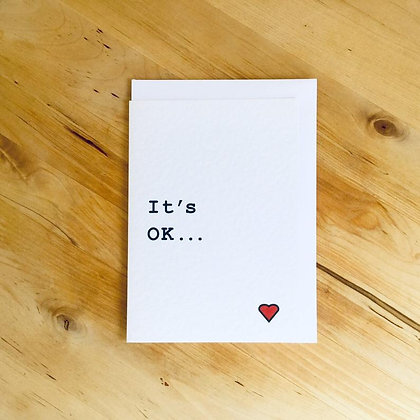 'It's OK' Cancer Card