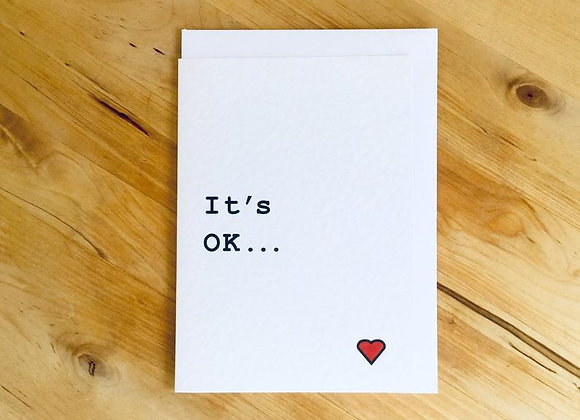 'It's OK' Cancer Card