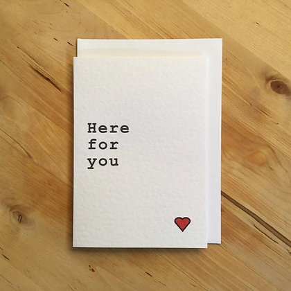 'Here For You' Cancer Card
