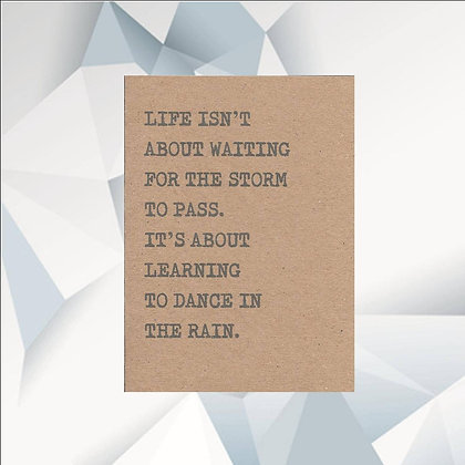 'Dancing in the Rain' Cancer Card