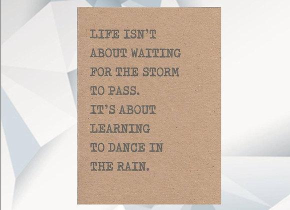 'Dancing in the Rain' Cancer Card