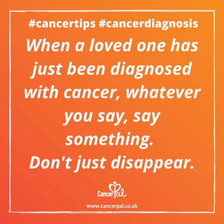 Cancer Diagnosis - Say Something #CancerTips #CancerDiagnosis
