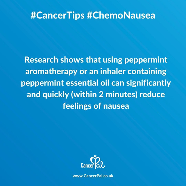 Cancer Tips Chemo Nausea Peppermint Aromatherapy