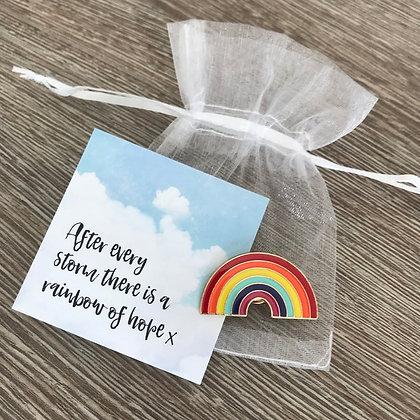 Rainbow of Hope Enamel Pin Badge