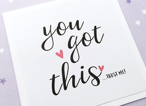 'You Got This' Cancer Card