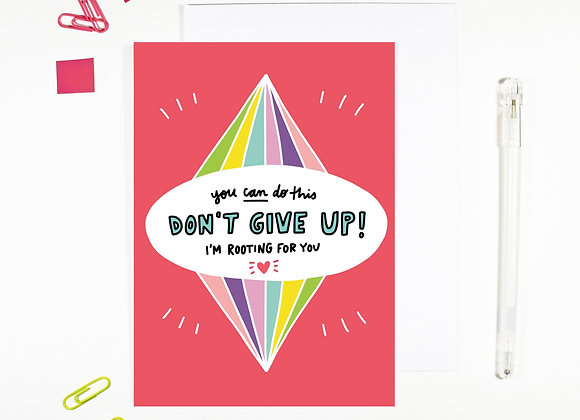 'Don't Give Up' Cancer Card