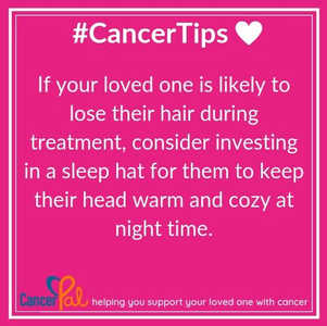 #CancerTips Cosy Sleep Hat