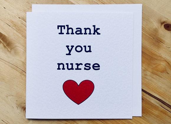 'Thank You Nurse' Cancer Card