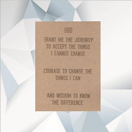 'Serenity Prayer' Cancer Card