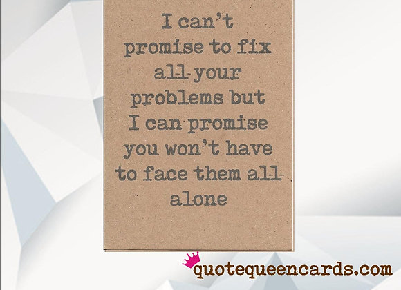 'Won't Face Your Problems Alone' Cancer Card