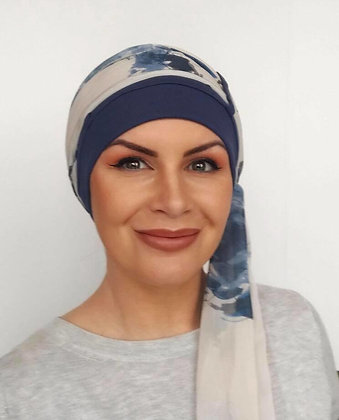 Catherine Headscarf - Vintage Blue