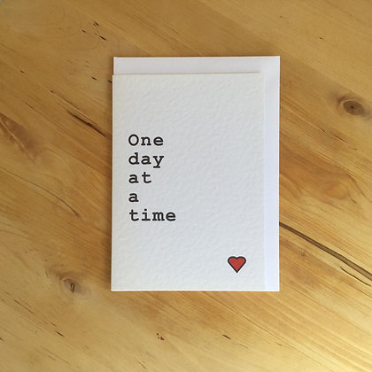 One Day at a Time - Cancer Card