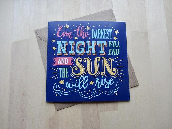 'Darkest Night' Cancer Card