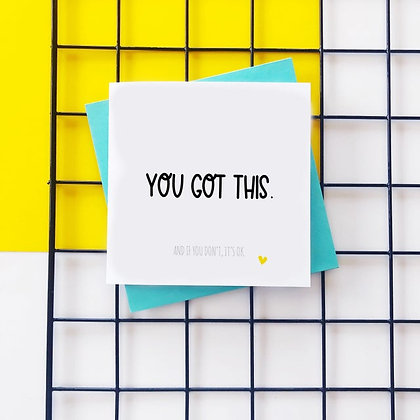 You Got This - Cancer Card