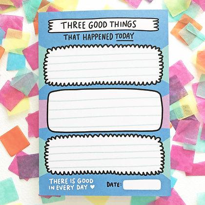 3 Good Things Notepad