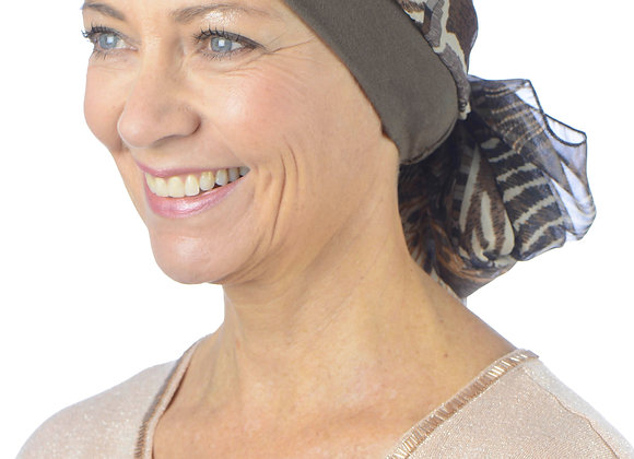 Chemo Headscarf with Hat - Fay