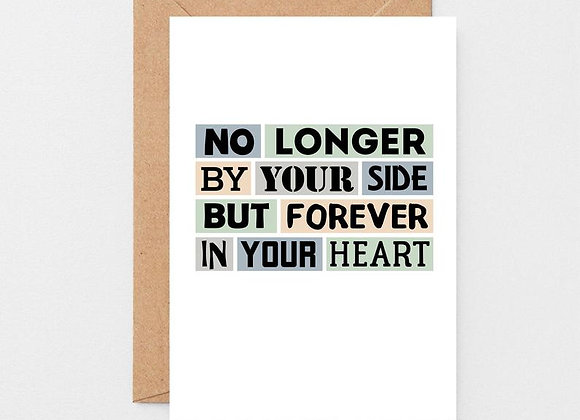 No Longer By Your Side - Empathy Card