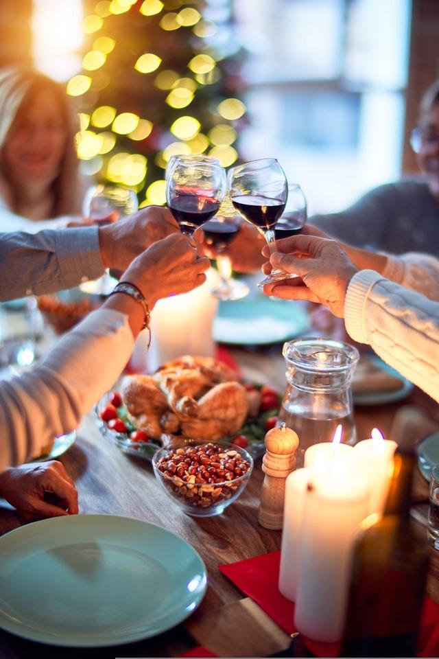 Loved ones enjoying Christmas dinner