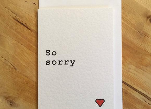 'So Sorry' Cancer Card