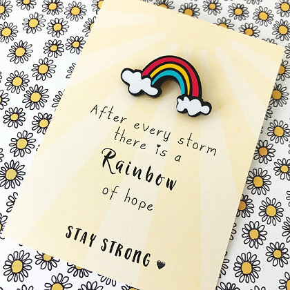 Rainbow Stay Strong Pin