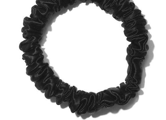 Silk Skinny Scrunchie - Black
