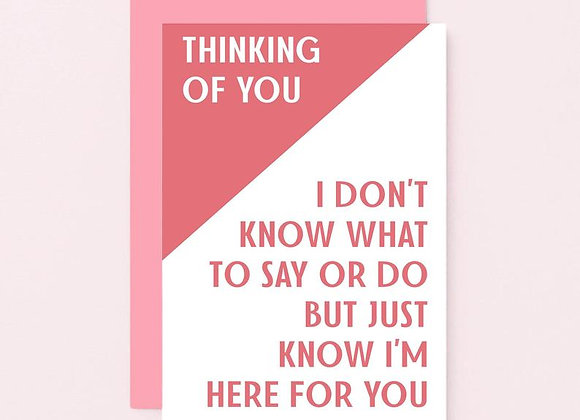 Don't know what to say - Empathy Card