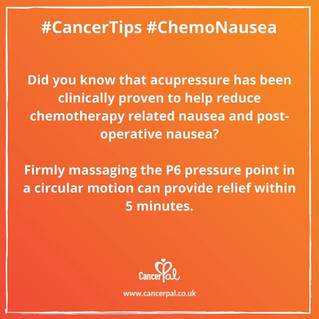 Cancer Tips Chemo Nausea Acupressure