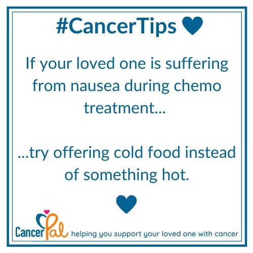 #CancerTips Cold Food