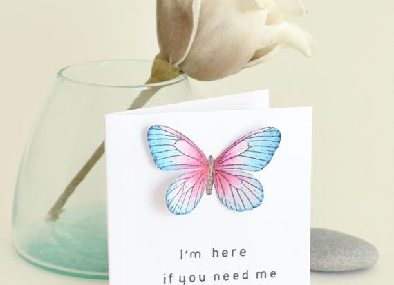 'Here If You Need Me' Cancer Card
