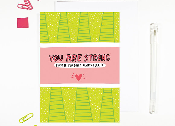'You Are Strong' Cancer Card