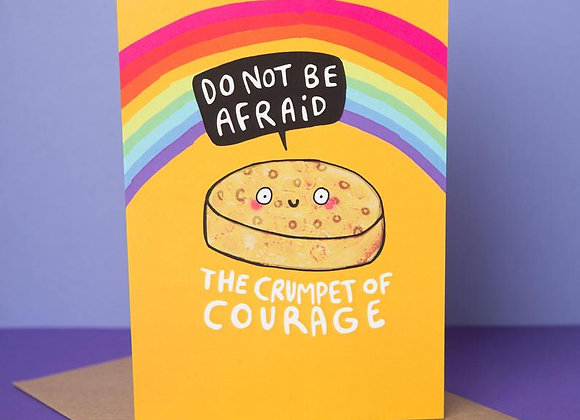 'Crumpet of Courage' Cancer Card