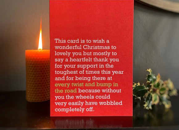 Every Twist & Bump In The Road - Christmas Card
