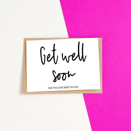 Get Well Soon - Empathy Card