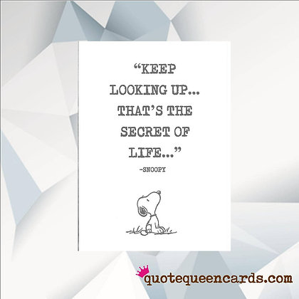 'Keep Looking Up' Cancer Card