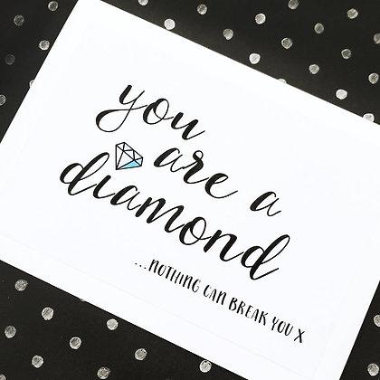 'You Are A Diamond' Cancer Card