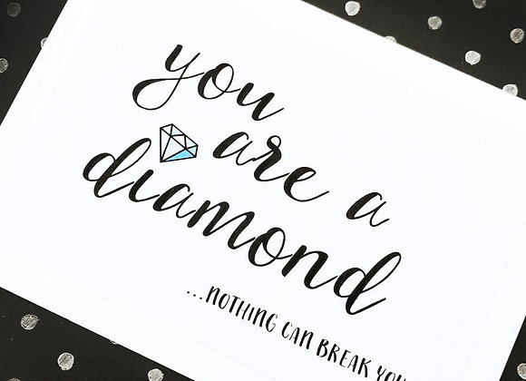 'You Are A Diamond' Cancer Card