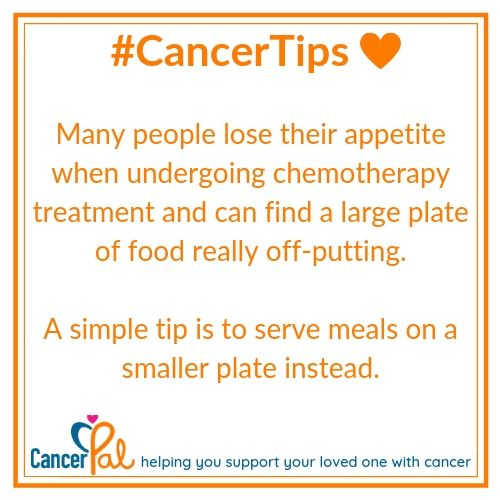 #CancerTips Small Plate