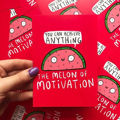 Melon of Motivation - Positivity Postcard