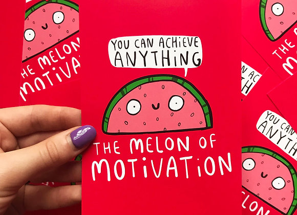Melon of Motivation - Positivity Postcard