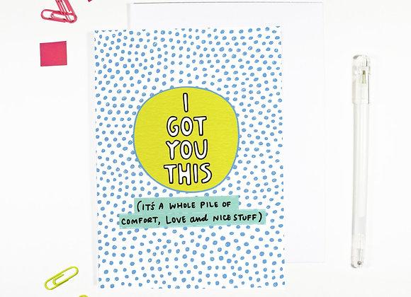 'I Got You This' Cancer Card