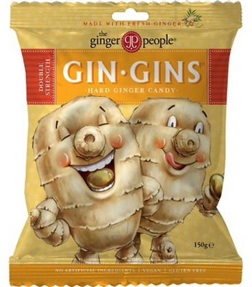 Gin Gins Double Strength Ginger Hard Boiled Sweets 150g