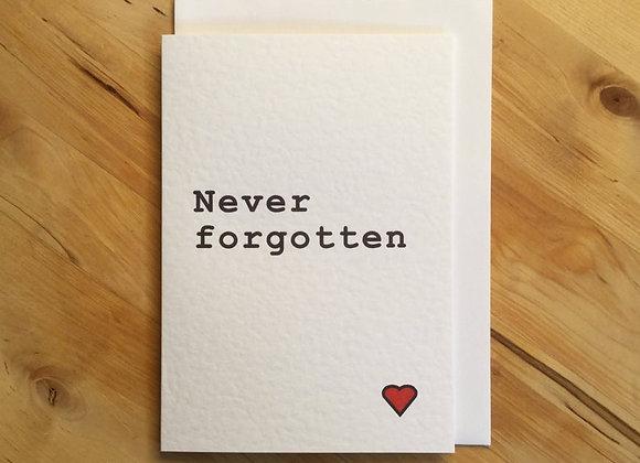 Never Forgotten - Empathy Card