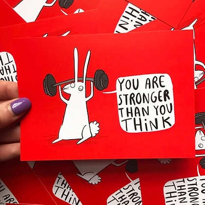 You are stronger than you think - Positivity Postcard