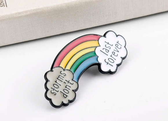 Storms Don't Last Forever Enamel Pin
