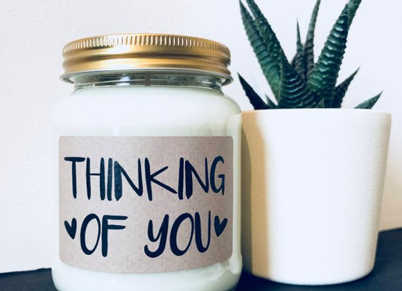 Thinking of You Natural Scented Soy Wax Candle